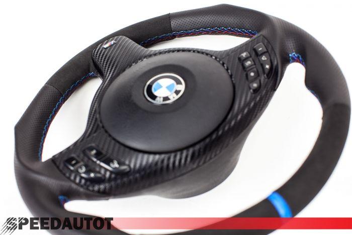 TUNING M3 M5 Lederlenkrad mit alcantara BMW E39 E46 M3 M5 X5 Blende Multifunktio