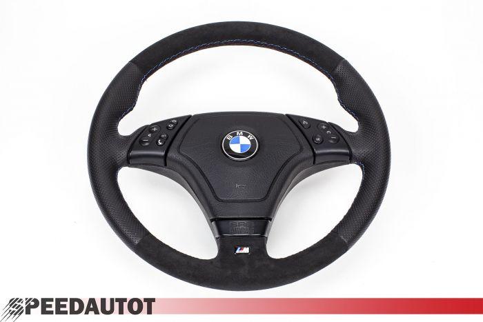 ALCANTARA Lederlenkrad BMW E46 NEU LEDERRBEZUG mit ALCANTARA!! LENKRAD MULTIFU.